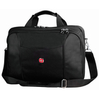 """Swissgear SWA0907 Carrying Case (Briefcase) for 15.6"""" Notebook - Black - Ballistic Nylon, Tricot Interior - Shoulder Strap, Handle - 12"""" (304.80 mm) Height x 16"""" (406.40 mm) Width x 5.75"""" (146.05 mm) Depth"""