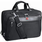 "Swissgear SWA0915 Carrying Case (Briefcase) for 17"" to 17.3"" Notebook - Black - Scratch Proof - Polytex - Shoulder Strap, Handle - 12.50"" (317.50 mm) Height x 16.50"" (419.10 mm) Width x 5.50"" (139.70 mm) Depth"