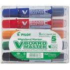 BeGreen V Board Master Whiteboard Marker - 2.2 mm, 5.2 mm Marker Point Size - Chisel Marker Point Style - Refillable - Black, Blue, Red, Green, Orange - Black, Blue, Red, Green, Orange Barrel - 5 / Set