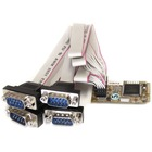 StarTech.com 4 Port RS232 Mini PCI Express Serial Card w/ 16650 - Serial adapter - Mini PCI Express - RS-232 x 4