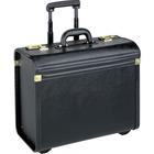 "Lorell Travel/Luggage Case (Roller) Travel Essential, Books, File Folder - Black - Vinyl - Handle - 14"" (355.60 mm) Height x 22"" (558.80 mm) Width x 8"" (203.20 mm) Depth"