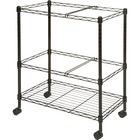 "Lorell Mobile Wire File Cart - 4 Casters - Steel - x 26"" Width x 12.5"" Depth x 30"" Height - Black - 1 / Each"
