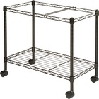 "Lorell Mobile File Cart - 4 Casters - Steel - x 12.9"" Width x 25.8"" Depth x 20.5"" Height - Black - 1 / Each"