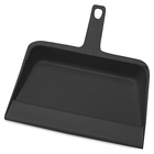"Genuine Joe Heavy-duty Plastic Dust Pan - 12"" Wide - Plastic - Black - 1 / Each"