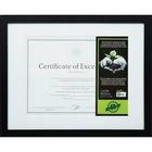 "DAX FSC Certified Black Wooden Frame - 11"" x 14"" Frame Size - Holds 8"" x 10.50"" Insert - Vertical, Horizontal - Button Closure, Hanger - 1 / Each - Wood, Glass - Black"
