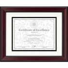 "DAX Rosewood and Black Document Frame - 11"" x 14"" Frame Size - Desktop, Wall Mountable - Vertical, Horizontal - Hanger - 1 / Each - Plastic, Glass, Fiberboard - Rosewood"