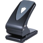 "Business Source Two-hole Metal Punch - 2 Punch Head(s) - 60 Sheet Capacity - 1/4"" Punch Size - Black, Gray"