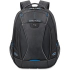 """Solo Tech Carrying Case (Backpack) for 17.3"""" Notebook - Black, Blue - Polyester - Handle, Backpack Strap - 18.75"""" (476.25 mm) Height x 14"""" (355.60 mm) Width x 7"""" (177.80 mm) Depth"""