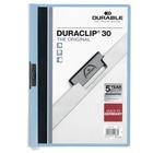 "DURABLE DURACLIP Report Cover - Letter - 8 1/2"" x 11"" Sheet Size - 30 Sheet Capacity - Vinyl - Blue - 1 / Each"