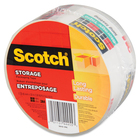 """Scotch Storage Packaging Tape - 54.7 yd (50 m) Length x 1.89"""" (48 mm) Width - 1 / Pack - Clear"""