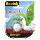 """Scotch Eco-Friendly Transparent Greener Tape - 0.75"""" Width x 49.87 ft Length - Photo-safe, Non-yellowing - Clear Dispenser Yes - Clear"""