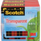 "Scotch Eco-Friendly Transparent Tape - 24.9 yd (22.8 m) Length x 0.75"" (19 mm) Width - Photo-safe, Non-yellowing - 1 Pack - Clear"
