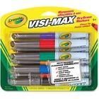 Crayola Dry Erase Marker - Bold Marker Point - Chisel, Bullet Marker Point Style - Red, Green, Blue, Black, Orange, Yellow, Violet, Brown - 8 / Pack