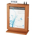 """Safco Customizable Wood Suggestion Box - External Dimensions: 10.5"""" Width x 5.8"""" Depth x 14.5""""Height - Media Size Supported: Letter - Key Lock Closure - Wood - Cherry - For Suggestion Card - 1 / Each"""