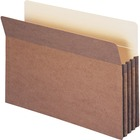 """Smead 100% Recycled File Pockets - Legal - 9 1/2"""" x 14 5/8"""" Sheet Size - 3 1/2"""" Expansion - Straight Tab Cut - Redrope, Tyvek, Paper - 132 g - Recycled - 25 / Box"""