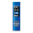 Pentel Mechanical Pencil Refill - 0.5 mmFine Point - HB - Black - 1 Tube