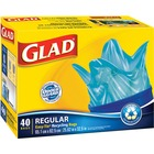 "Glad Easy-Tie Regular Recycling Bag - 67 L - 20"" (508 mm) Width x 32.50"" (825.50 mm) Length - Blue - Plastic - 40/Box - Garbage"
