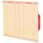 """Pendaflex End Tab Out Guide - Printed Tab(s) - Message - OUT - 8.50"""" Divider Width x 11"""" Divider Length - Letter - Manila Manila Divider - Red Tab(s)"""
