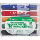 BeGreen V Board Master Whiteboard Marker - Medium Marker Point - Bullet Marker Point Style - Refillable - Blue, Red, Green, Orange, Black - Black, Blue, Red, Green, Orange Barrel - 5 / Set