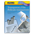 "Apollo Transparency Film - Letter - 85"" x 11"" - 100 / Box - Clear"