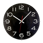 Artistic Wall Clock - Analog - Quartz - Black Main Dial - Black