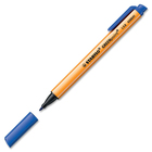 Schwan-STABILO GREENpoint Porous Point Pen - 1.1 mm Pen Point Size - Retractable - Blue - Orange Plastic, White Barrel - Nylon Fiber Tip - 1 Each