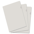 "Filemode Poly View Folder - Tabloid - 11"" x 17"" Sheet Size - Poly - Clear - 10 / Pack"