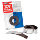 "Filemode Platinum Peel-N-Stick Magnetic Tape - 10 ft (3 m) Length x 1"" (25.4 mm) Width - Polypropylene - Permanent Adhesive - 1 Roll"
