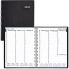 """Blueline Duraflex C5950V Planner - Weekly - 11"""" (279.4 mm) x 9.1"""" (230.2 mm)2012 - 7:00 AM, 7:00 AM to 8:45 PM, 4:45 PM - Poly, Paper - Black"""