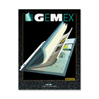 "Gemex Magazine Holder - 0"" Thickness - For Letter 8 1/2"" x 11"" Sheet - Ring Binder - Rectangular - Clear - Vinyl - 5 / Pack"