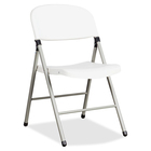"Heartwood Toughlite TLT-FC6 Folding Chairs - 6/CT - Polyethylene Seat - Powder Coated Steel Frame - Four-legged Base - 17.8"" Width x 19.5"" Depth x 33.5"" Height - 6 / Carton"