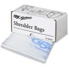 Swingline Shredder Bag - 25/Box - Plastic - Clear