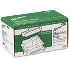 """Swingline Shredder Bag - 158.99 L - 18"""" (457.20 mm) Height x 48"""" (1219.20 mm) Width x 24"""" (609.60 mm) Depth - 100/Box - Poly - Clear"""