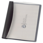 """GBC Executive Clear Front Report Cover - Letter - 8 1/2"""" x 11"""" Sheet Size - 30 Sheet Capacity - 3 Fastener(s) - Poly - Black, Clear - 1 Each"""