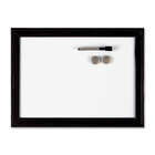 "Quartet Espresso Dry Erase Board - 23"" (1.9 ft) Width x 17"" (1.4 ft) Height - White Surface - Dark Brown Frame - 1 Each"