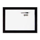 "Quartet Espresso Dry Erase Board - 36"" (3 ft) Width x 24"" (2 ft) Height - White Surface - Dark Brown Frame - 1 Each"