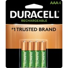Duracell DX2400 General Purpose Battery - For Multipurpose - Battery Rechargeable - 1.2 V DC - 800 mAh - Nickel Metal Hydride (NiMH) - 4 / Pack