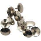 """Acme United Thumb Tack Pushpin - 0.50"""" (12.70 mm) Diameter - 10 / Box - Nickel Plated"""