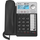 AT&T ML17929 Standard Phone - Silver - 2 x Phone Line - Speakerphone - Backlight