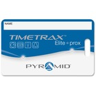"""Pyramid Time Systems TimeTrax Elite Proximity Badges - Proximity Card - 3.50"""" Width x 2.50"""" Length - 15 - Pack - Blue"""