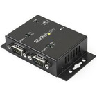 StarTech.com USB to Serial Adapter - 2 Port - Wall Mount - Din Rail Clips - Industrial - COM Port Retention - FTDI - DB9 - 2 x 9-pin DB-9 Male RS-232 Serial, 1 x 4-pin Type B Female USB 2.0 USB USB