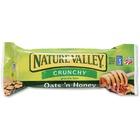 NATURE VALLEY Oats/Honey Granola Bar - Crunch, Honey Touched Oat - 42.5 g - 18 / Box