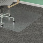 """Lorell Medium-pile Chairmat - Carpeted Floor - 60"""" (1524 mm) Length x 46"""" (1168.40 mm) Width x 0.13"""" (3.38 mm) Thickness - Rectangle - Vinyl - Clear"""
