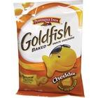 Goldfish Pepperidge Farm Goldfish Shaped Crackers - Trans Fat Free - Cheddar - 1 Serving Bag - 42.5 g - 72 / Carton