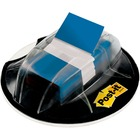 "Post-it® 1""W Flags in Desk Grip Dispenser - 200 - 1"" x 1.75"" - Rectangle - Unruled - Blue - Removable, Self-adhesive - 200 / Pack"
