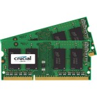 Crucial 16GB (2 x 8 GB) DDR3 SDRAM Memory Kit - For Notebook - 16 GB (2 x 8 GB) - DDR3-1600/PC3-12800 DDR3 SDRAM - CL11 - 1.35 V - Non-ECC - Unbuffered - 204-pin - SoDIMM
