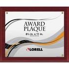 """Lorell Mahogany Award-a-Plaque - 8.50"""" x 11"""" - Mahogany with Gold Border - 1 Each"""