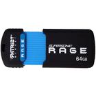 Patriot Memory 64GB Supersonic Rage XT USB 3.0 Flash Drive(PEF64GSRUSB) - 64 GB - USB 3.0 - 180 MB/s Read Speed - 50 MB/s Write Speed - 5 Year Warranty