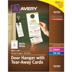 Avery® Door Hanger with Tearaway Cards, Uncoated - Two-Sided Printing - White - 80 / Pack