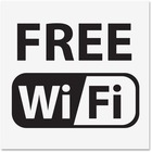U.S. Stamp & Sign Free Wi-Fi Window Sign - 1 / Each - Free Wi-Fi Print/Message - Plastic - Black, White